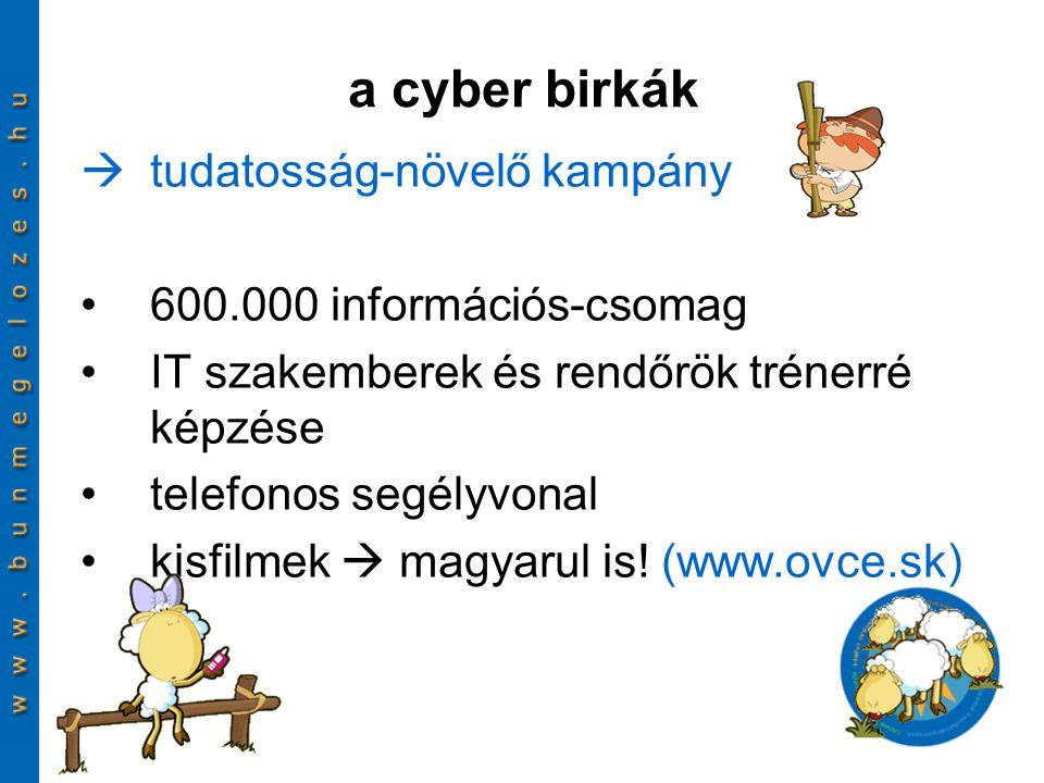 a cyber birkák tudatosság-növelő kampány 600.000 információs-csomag