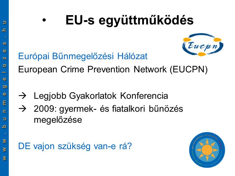 EU-s együttműködés Európai Bűnmegelőzési Hálózat