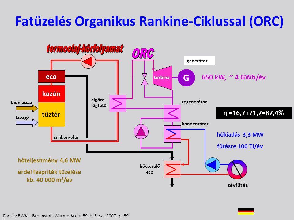 Fatüzelés Organikus Rankine-Ciklussal (ORC)