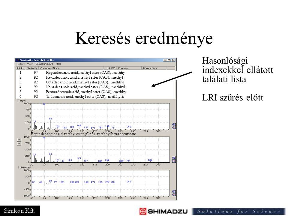 Keresés eredménye Hasonlósági indexekkel ellátott találati lista