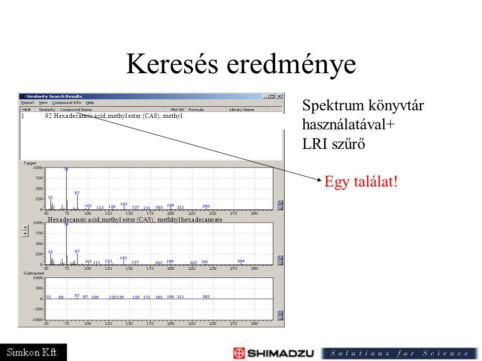 Keresés eredménye Spektrum könyvtár használatával+ LRI szűrő