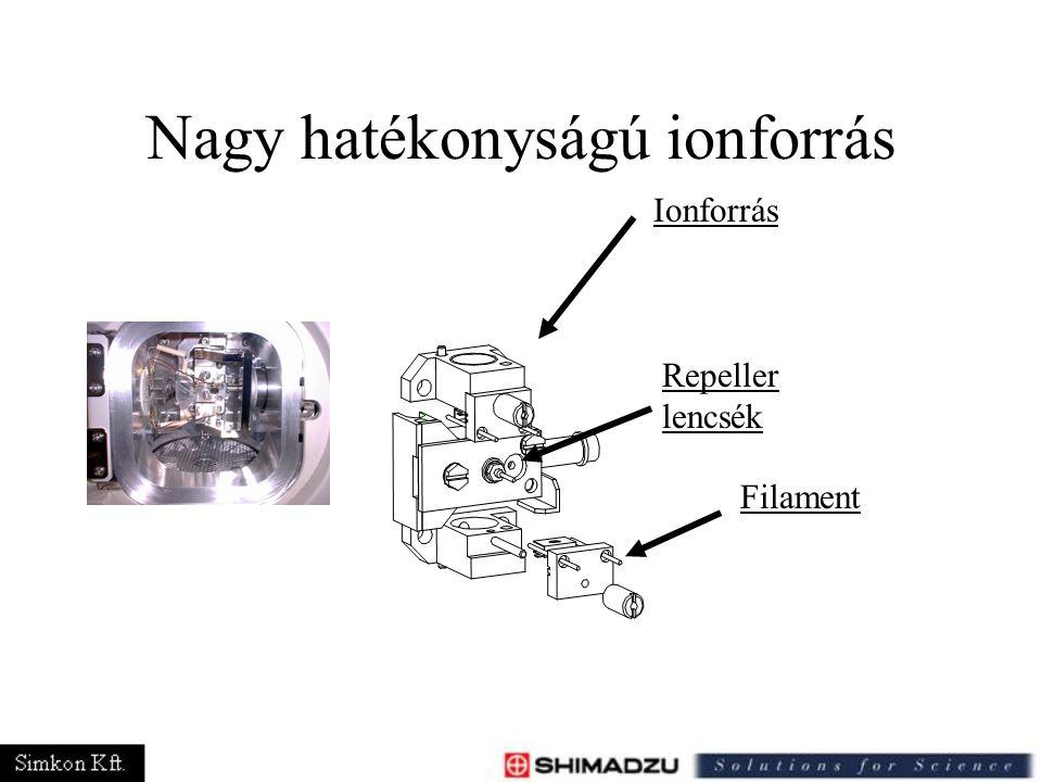 Nagy hatékonyságú ionforrás