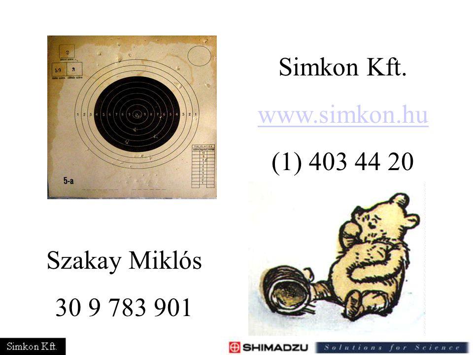 Simkon Kft. www.simkon.hu (1) 403 44 20 Szakay Miklós 30 9 783 901