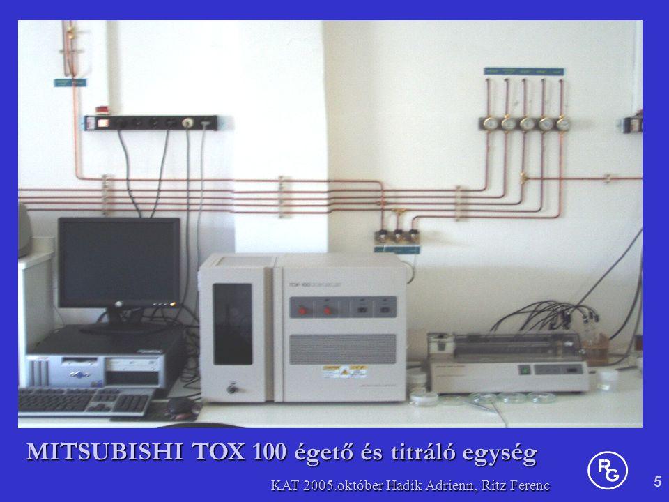 MITSUBISHI TOX 100 égető és titráló egység