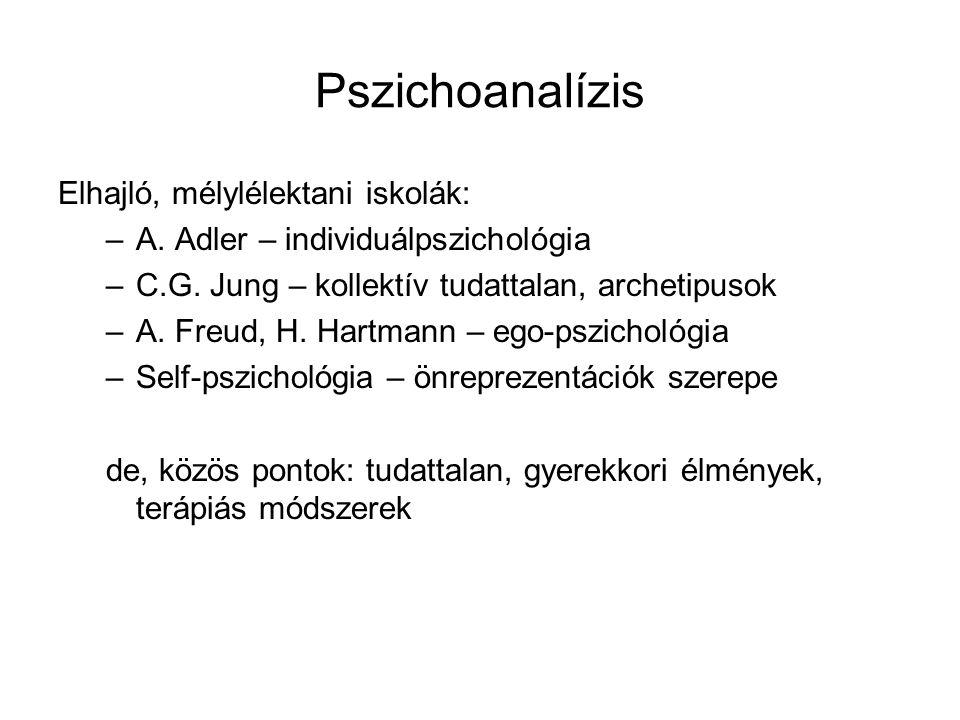 Pszichoanalízis Elhajló, mélylélektani iskolák: