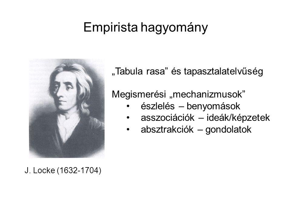 """Empirista hagyomány """"Tabula rasa és tapasztalatelvűség"""