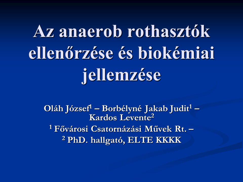 Az anaerob rothasztók ellenőrzése és biokémiai jellemzése