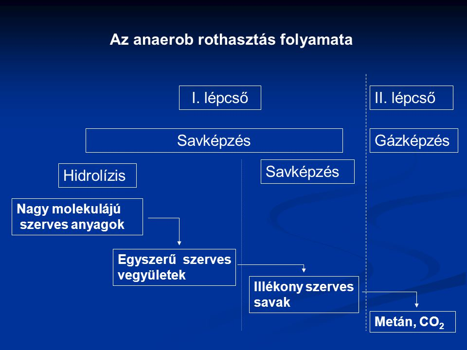 Az anaerob rothasztás folyamata