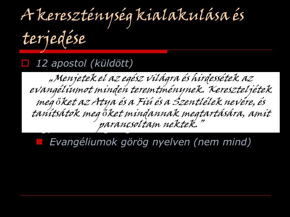 A kereszténység kialakulása és