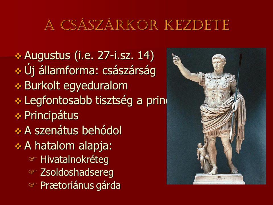 A császárkor kezdete Augustus (i.e. 27-i.sz. 14)