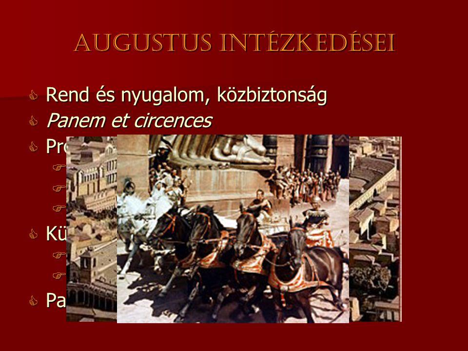 Augustus intézkedései