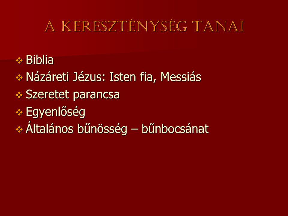 A kereszténység tanai Biblia Názáreti Jézus: Isten fia, Messiás