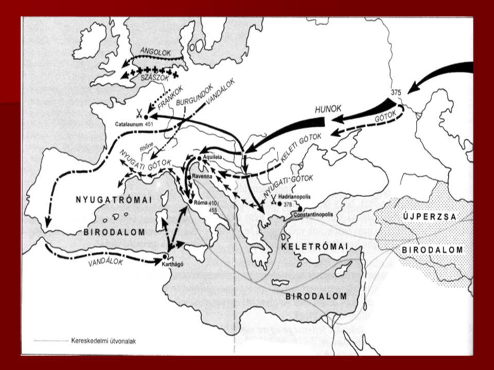 A Népvándorlás Kelet-Ázsiából indul a IV. szd. végén