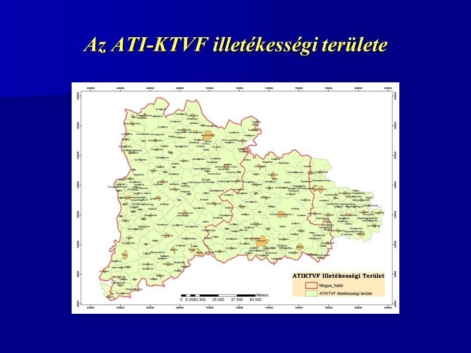 Az ATI-KTVF illetékességi területe