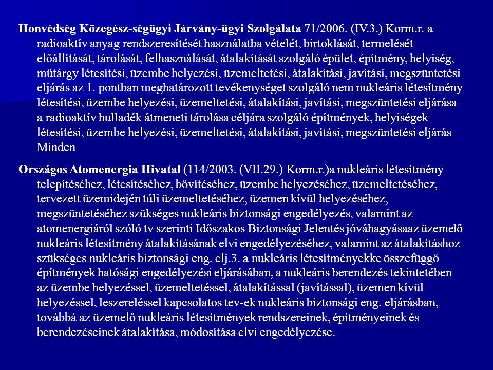Honvédség Közegész-ségügyi Járvány-ügyi Szolgálata 71/2006. (IV. 3