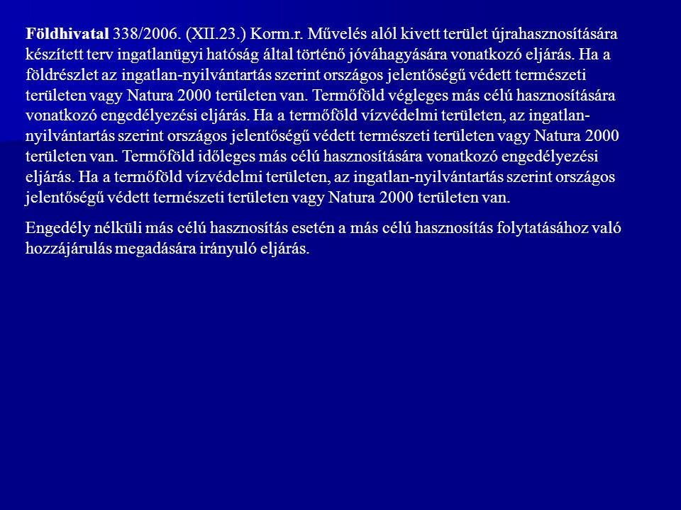 Földhivatal 338/2006. (XII. 23. ) Korm. r