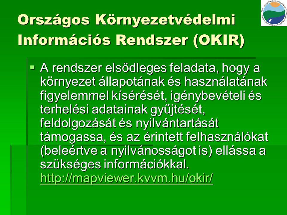Országos Környezetvédelmi Információs Rendszer (OKIR)