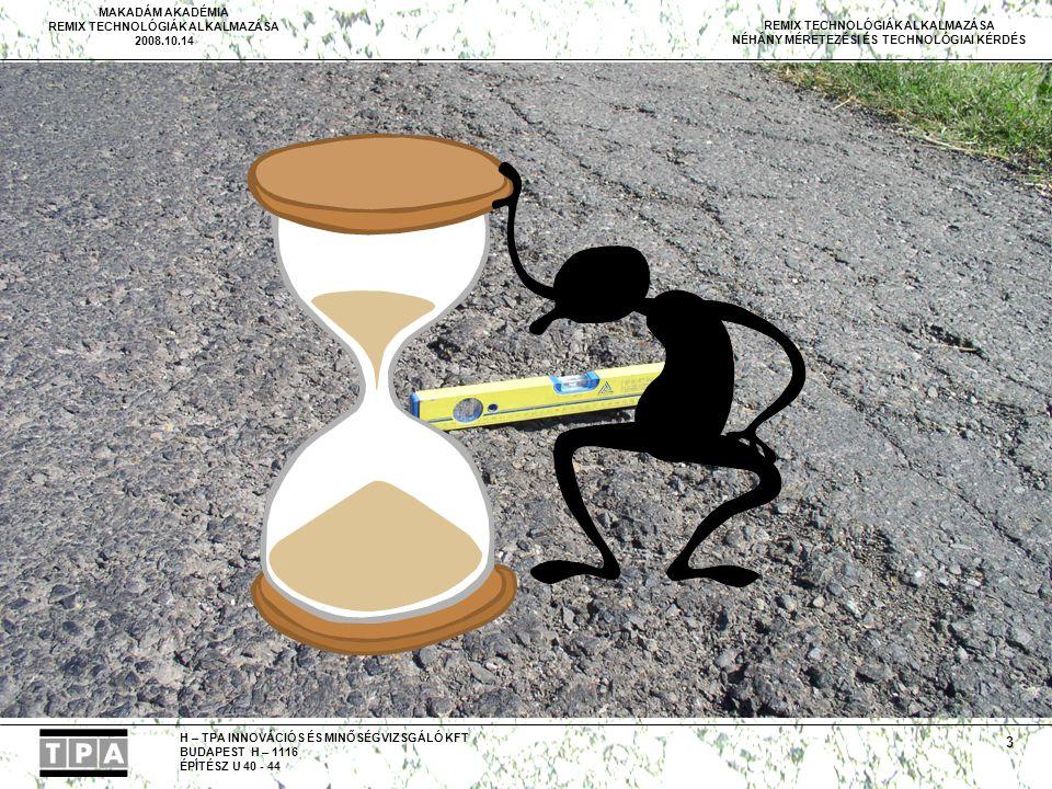 Van még egy fontos feltétel, ez az idő, azaz kell, hogy legyen kellő idő a tervezés végrehajtására.