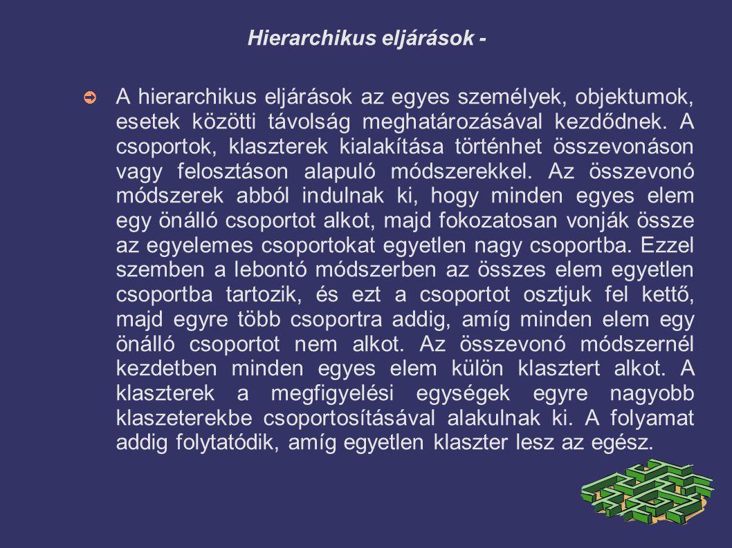 Hierarchikus eljárások -