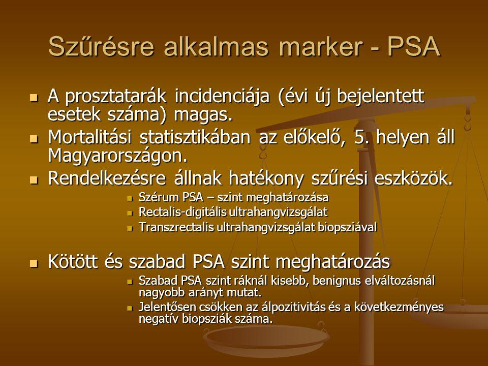 Szűrésre alkalmas marker - PSA