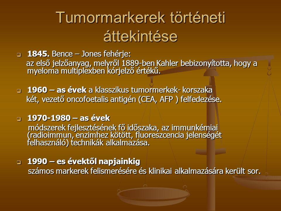 Tumormarkerek történeti áttekintése