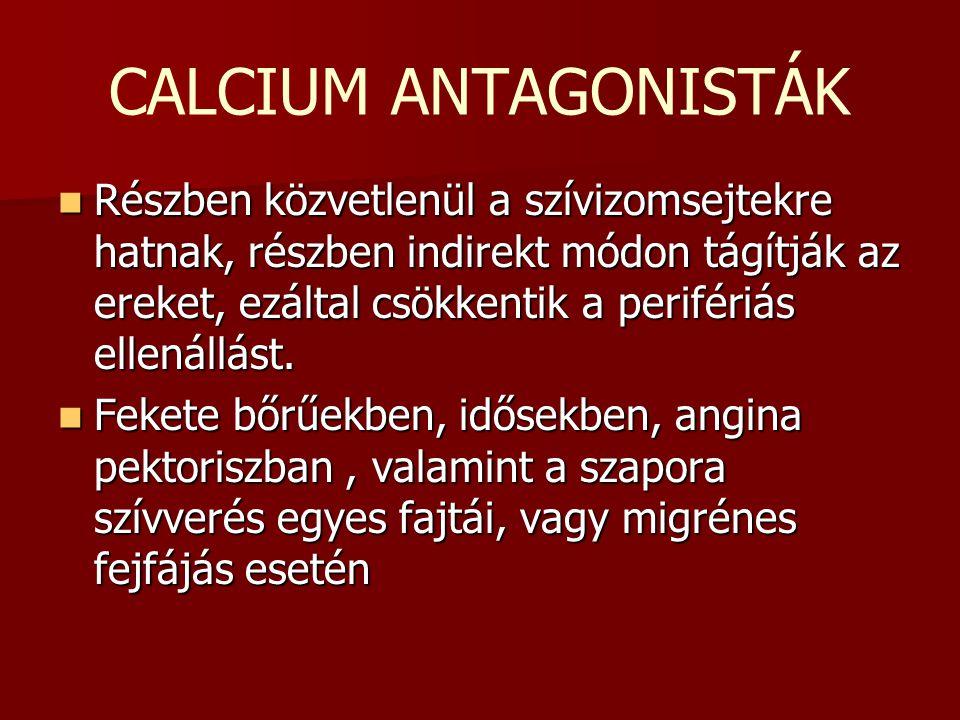 CALCIUM ANTAGONISTÁK