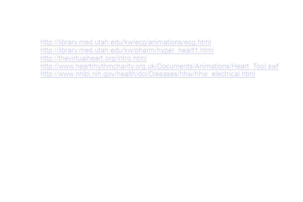 http://library.med.utah.edu/kw/ecg/animations/ecg.html http://library.med.utah.edu/kw/pharm/hyper_heart1.html.