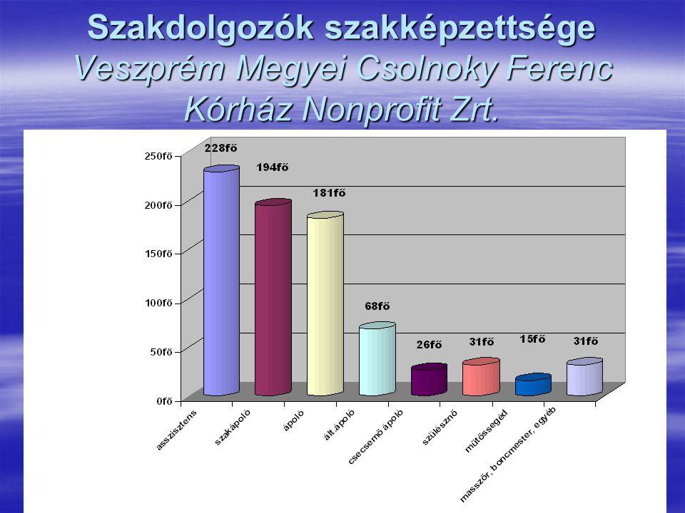 Szakdolgozók szakképzettsége Veszprém Megyei Csolnoky Ferenc Kórház Nonprofit Zrt.