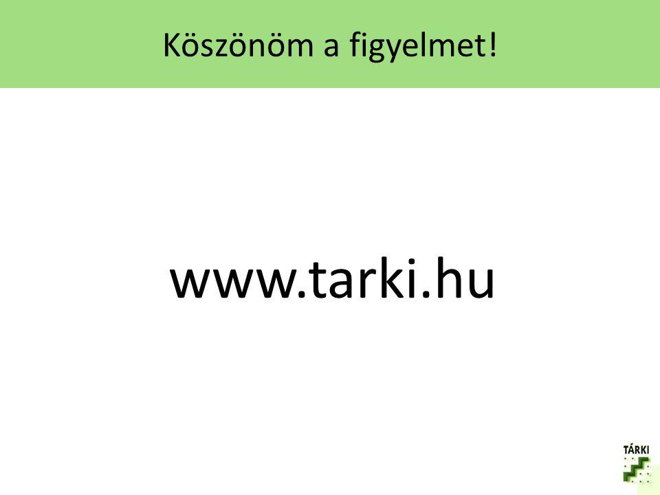 Köszönöm a figyelmet! www.tarki.hu