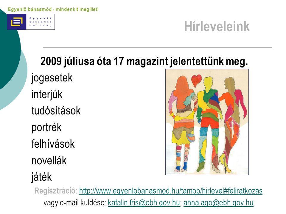 2009 júliusa óta 17 magazint jelentettünk meg.