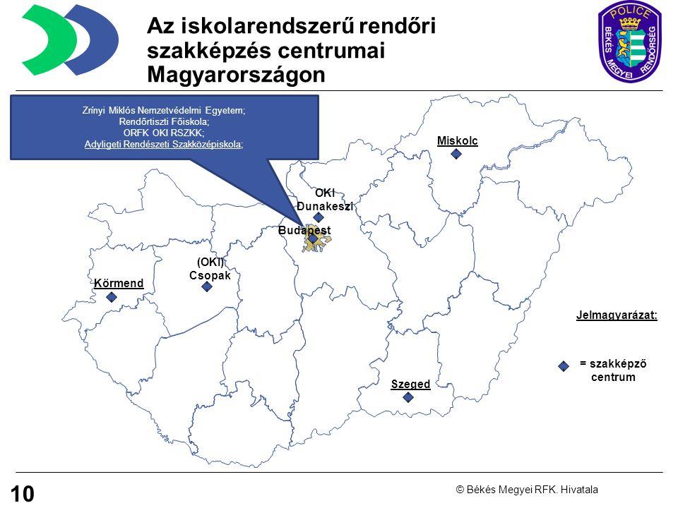 Az iskolarendszerű rendőri szakképzés centrumai Magyarországon