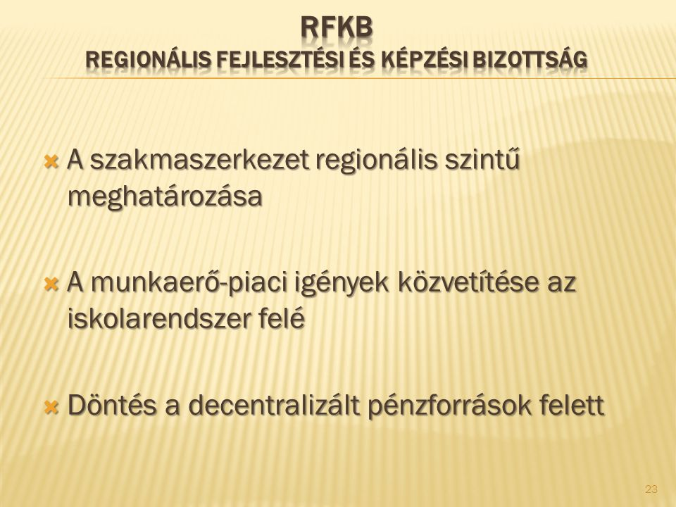 RFKB Regionális Fejlesztési és Képzési Bizottság
