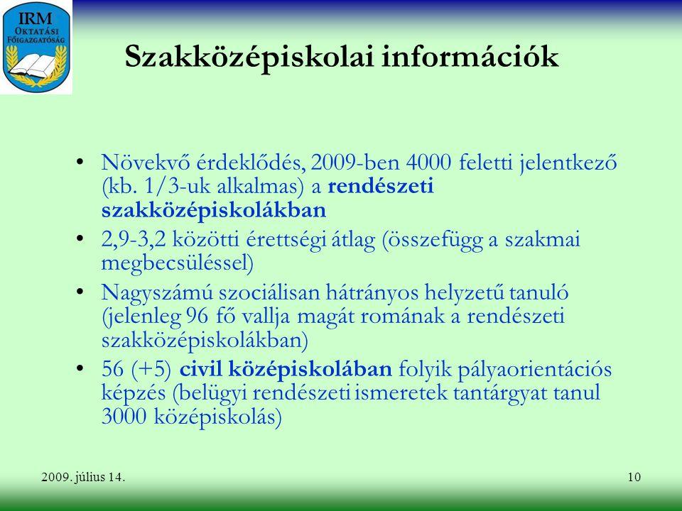 Szakközépiskolai információk