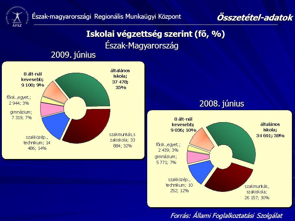 Iskolai végzettség szerint (fő, %)