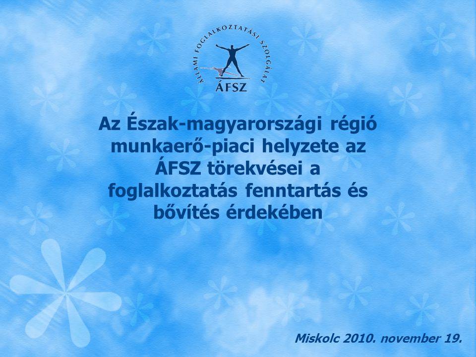 Az Észak-magyarországi régió munkaerő-piaci helyzete az ÁFSZ törekvései a foglalkoztatás fenntartás és bővítés érdekében