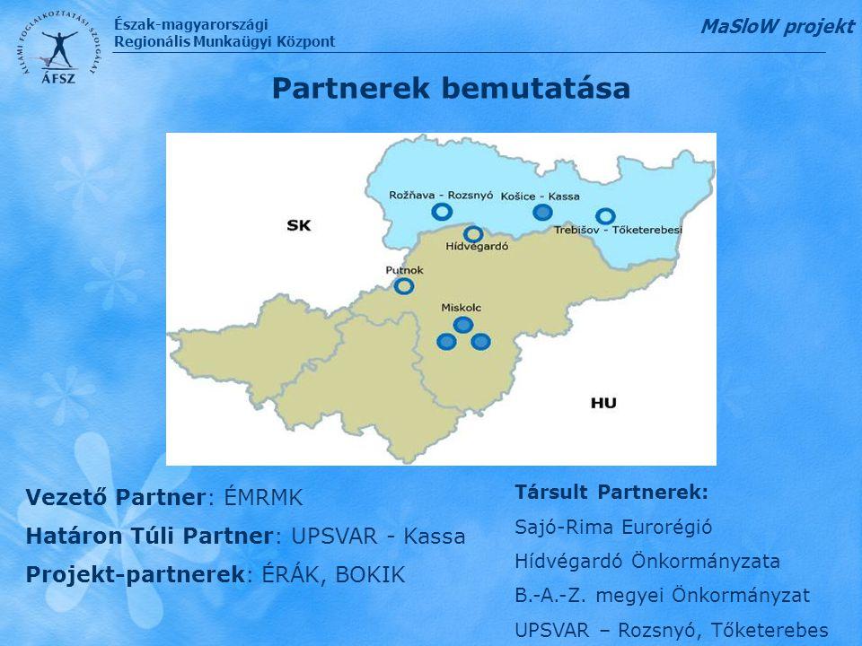 Partnerek bemutatása Vezető Partner: ÉMRMK