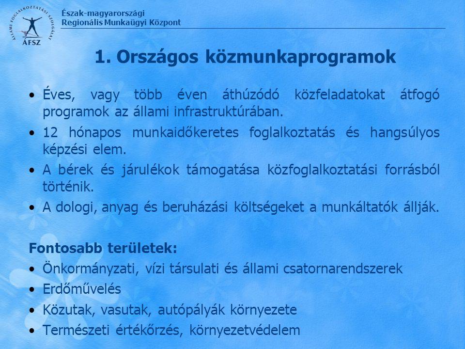 1. Országos közmunkaprogramok