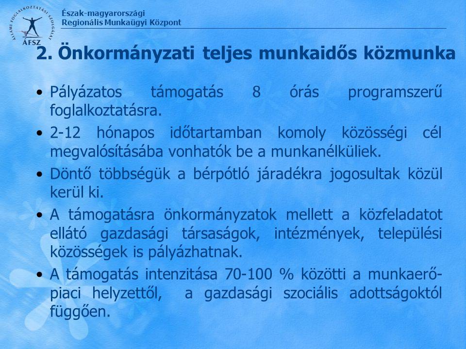 2. Önkormányzati teljes munkaidős közmunka