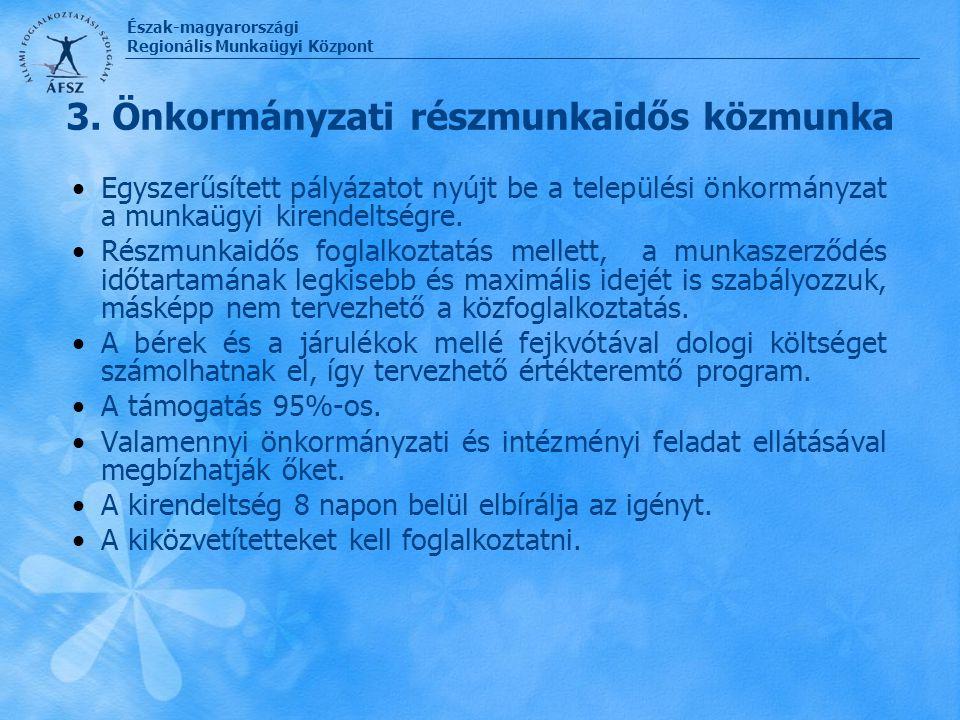 3. Önkormányzati részmunkaidős közmunka