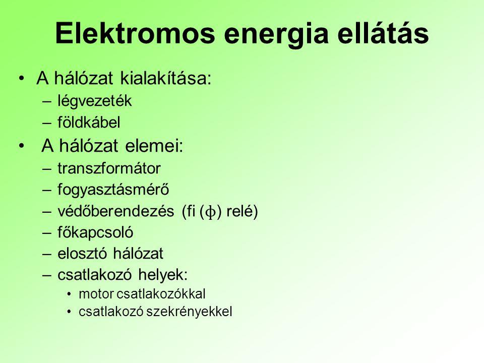 Elektromos energia ellátás