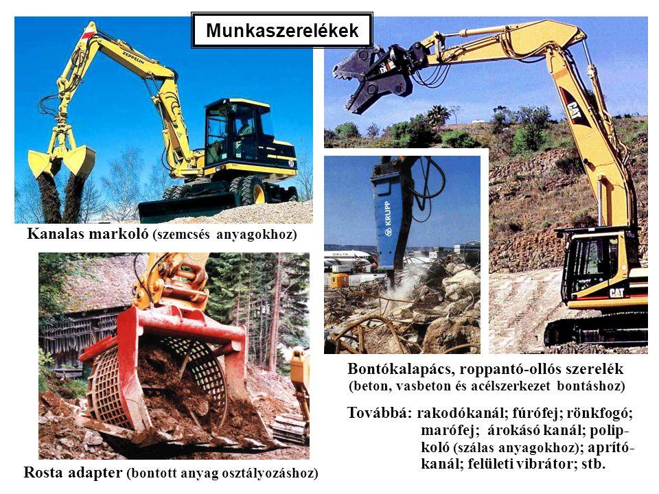 Munkaszerelékek Kanalas markoló (szemcsés anyagokhoz)