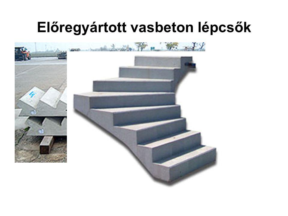Előregyártott vasbeton lépcsők