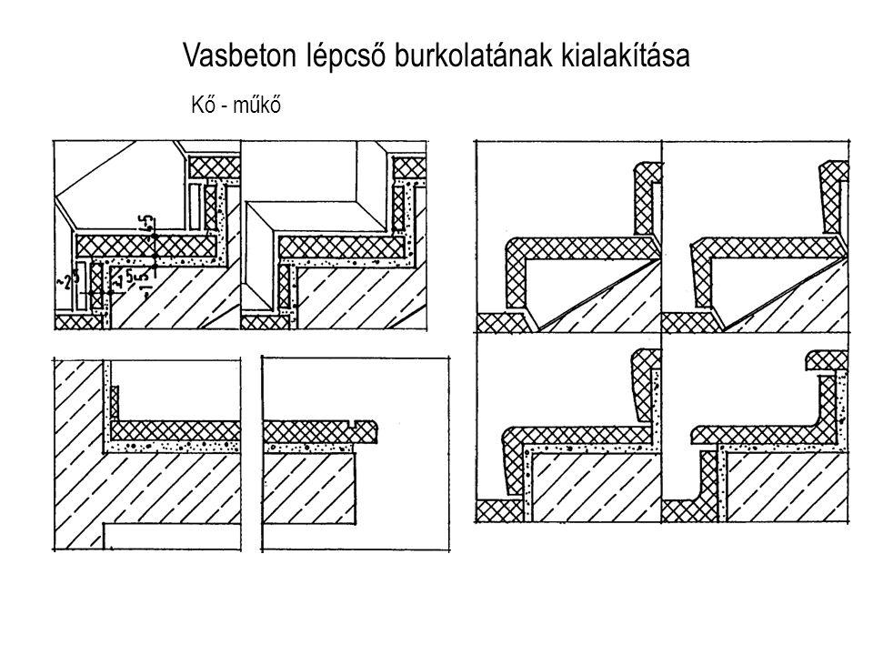 Vasbeton lépcső burkolatának kialakítása