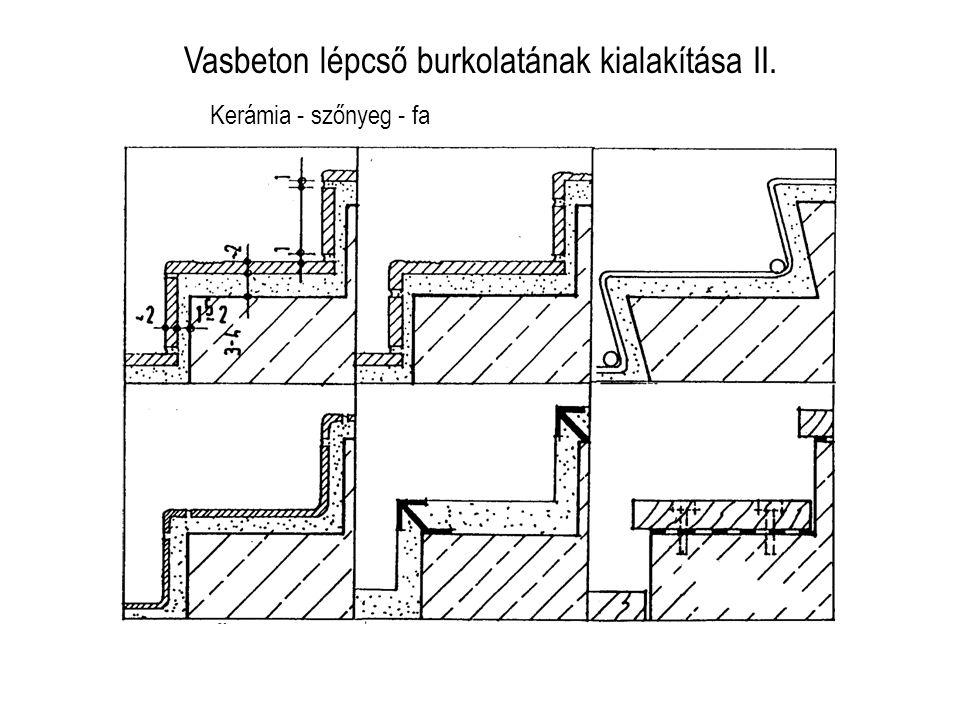 Vasbeton lépcső burkolatának kialakítása II.