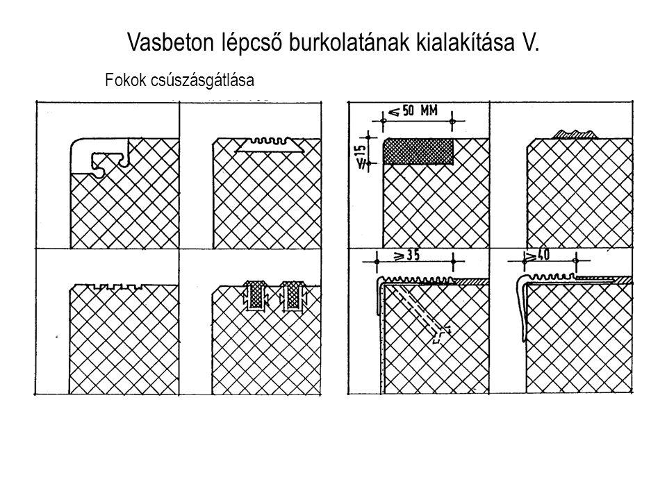 Vasbeton lépcső burkolatának kialakítása V.