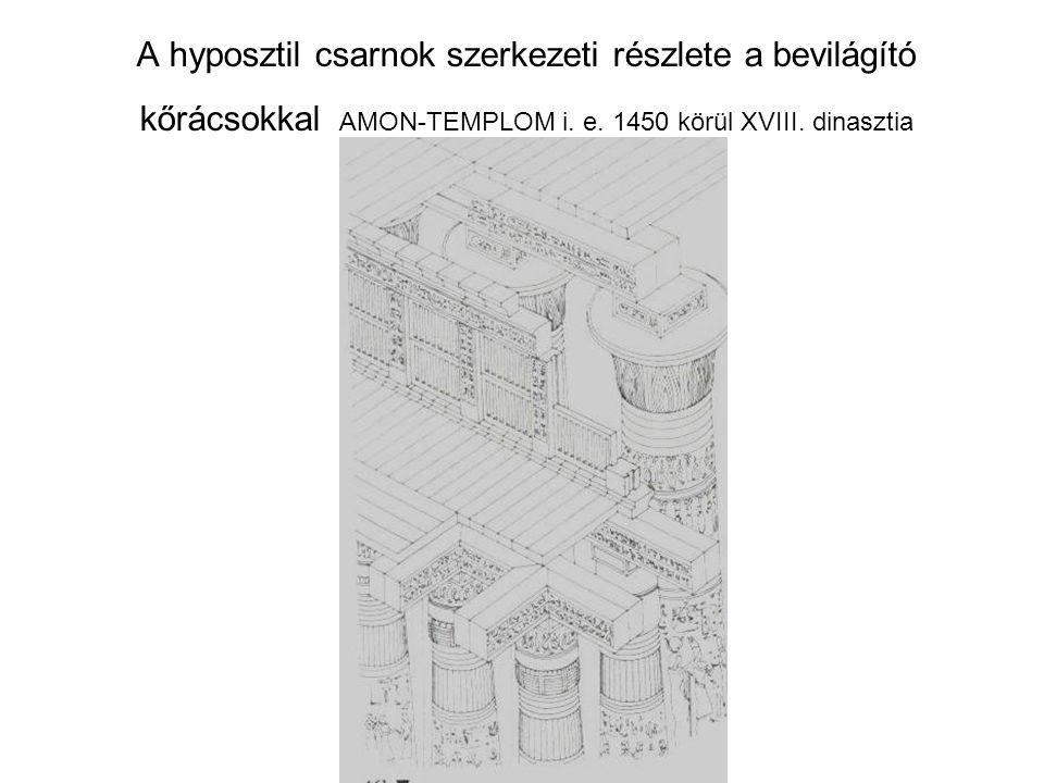 A hyposztil csarnok szerkezeti részlete a bevilágító kőrácsokkal AMON-TEMPLOM i.