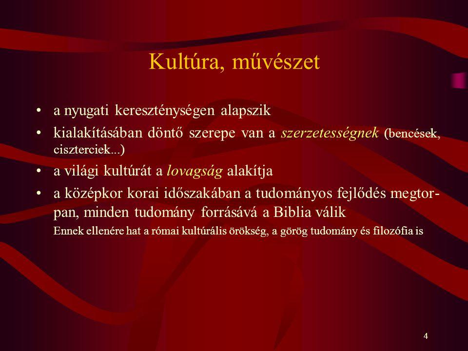 Kultúra, művészet a nyugati kereszténységen alapszik