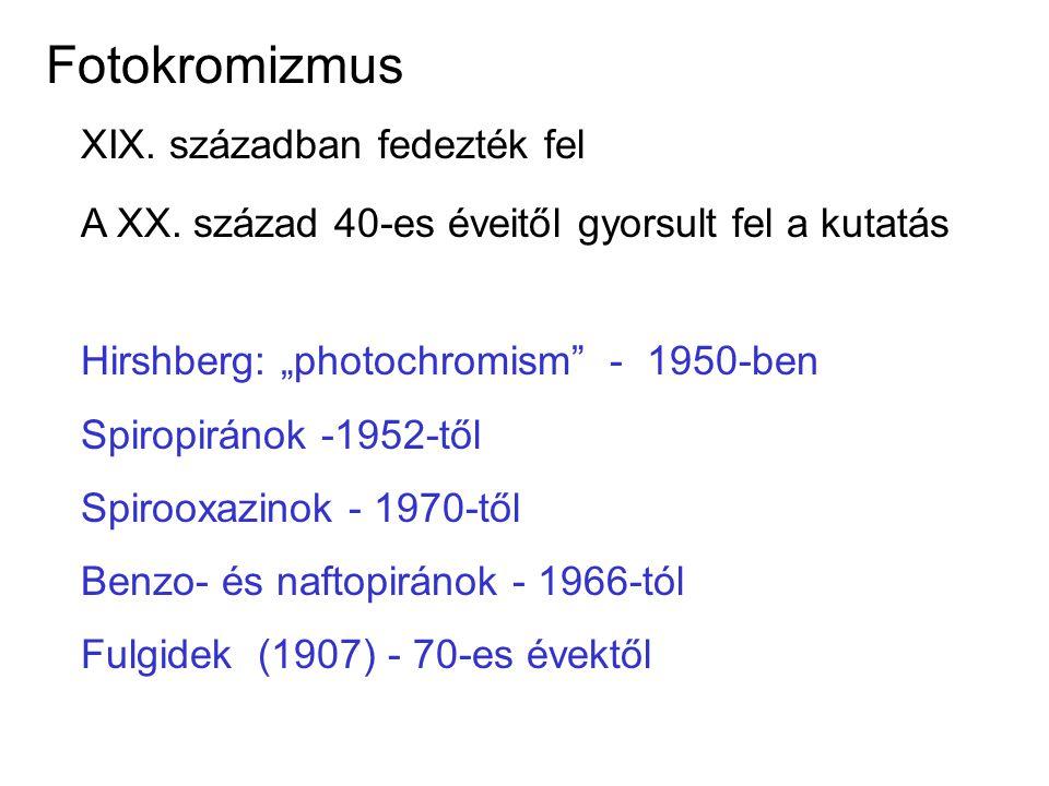 Fotokromizmus XIX. században fedezték fel