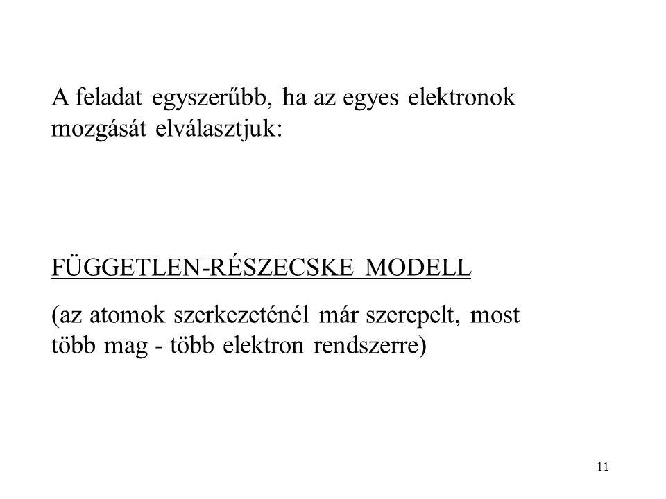 A feladat egyszerűbb, ha az egyes elektronok mozgását elválasztjuk: