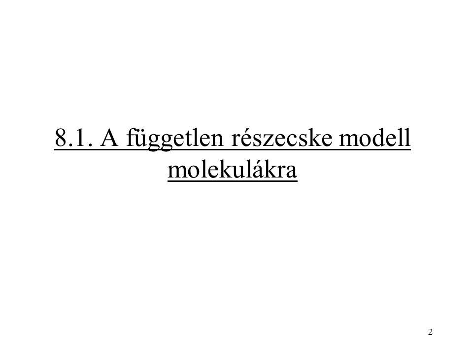 8.1. A független részecske modell molekulákra